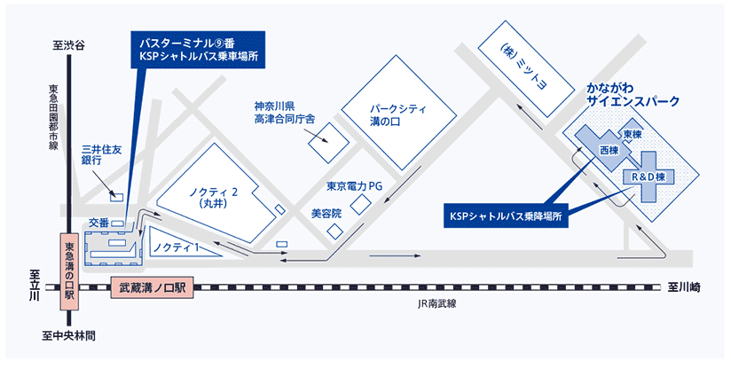 HOTEL KSP シャトルバス乗り場 地図