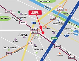 HOTEL KSP周辺地図